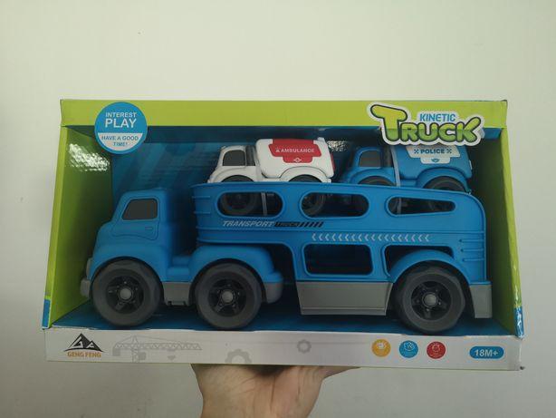 Camião Reboque Brinquedos de Plástico para Criança Azul / Truck