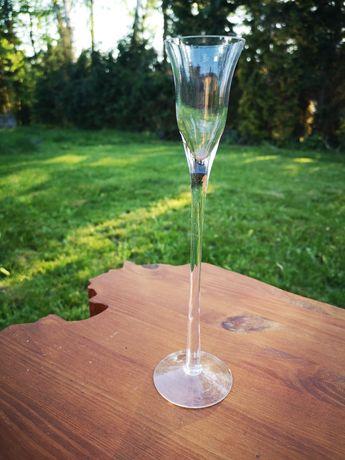 Świeczniki szklane 7szt.  25 cm wesele chrzciny komunia