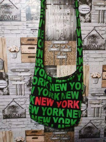 Текстильная женская сумка через плечо торба