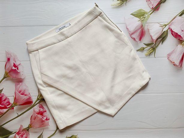 Белая юбка, юбка асимметрия, тёплая юбка, стильно Gestuz