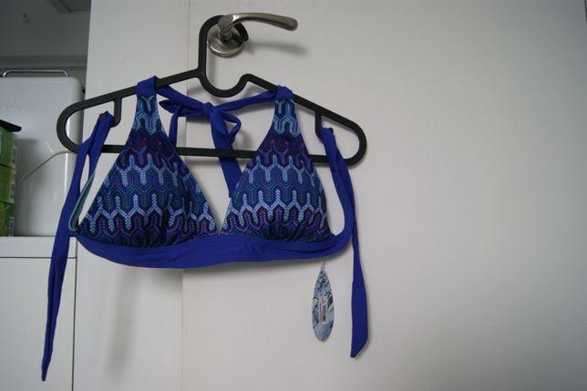 ZALANDO Góra od bikini sail blue ibiza granatowy firmy PRANA r. S