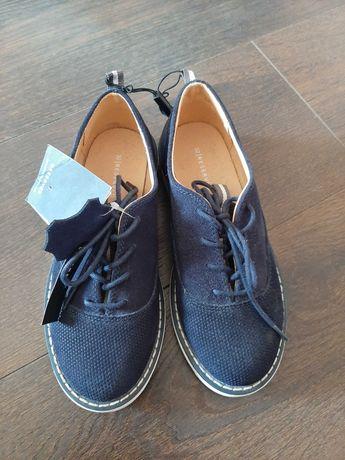 Pantofle chłopięce sķórzane Reserved rozm.32