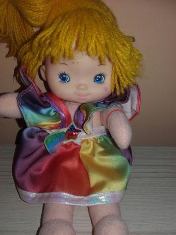 Szmaciana sliczna lalka przytulanka Tęczowa Rubinka