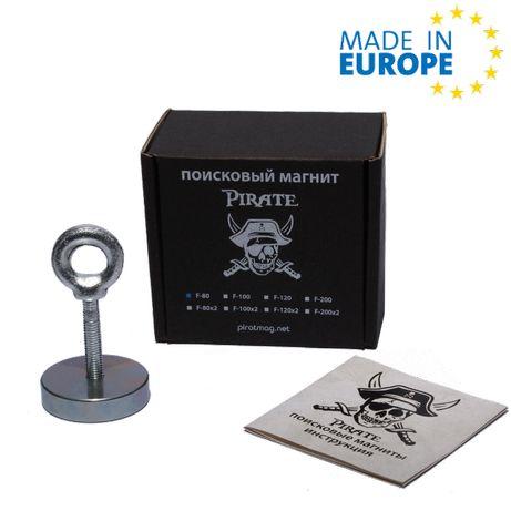 •F-80• Поисковый магнит ПИРАТ + ТРОС в подарок + Бесплатная доставка*