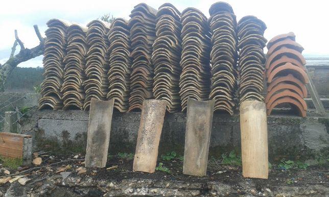 telhas de canudo