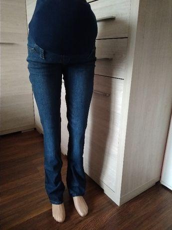 Dżinsowe spodnie ciążowe nogawka zwężana XXXL