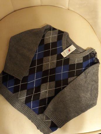 Sweterek chłopięcy z długim rękawem 74