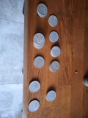Monety 1 zł prl. 42sztuki
