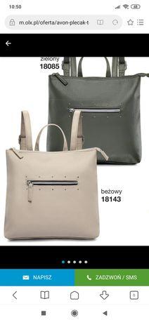 Nowy beżowy plecak Nadalia Avon