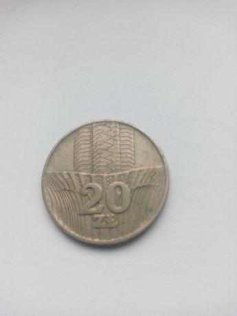 Moneta z wieżowcem i kłosem 20zł.