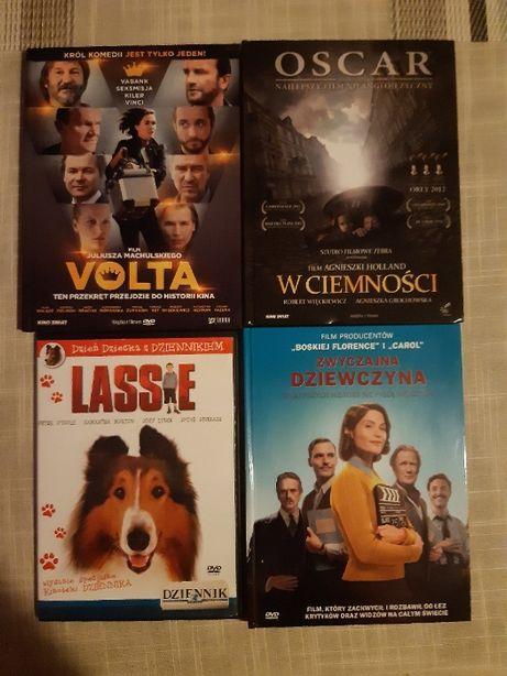 """Filmy DVD """"Volta"""", """"W ciemności"""", """"Lassie"""", """"Zwyczajna dziewczyna"""""""