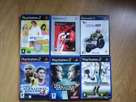 Jogos Playstation 2 - Singstar / Gran Turismo / PES / Moto GP / Tenis