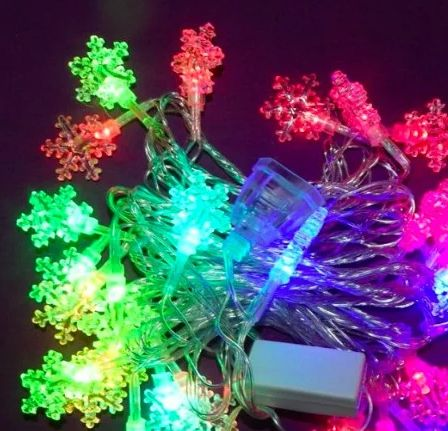 Гирлянда 20 LED снежинка