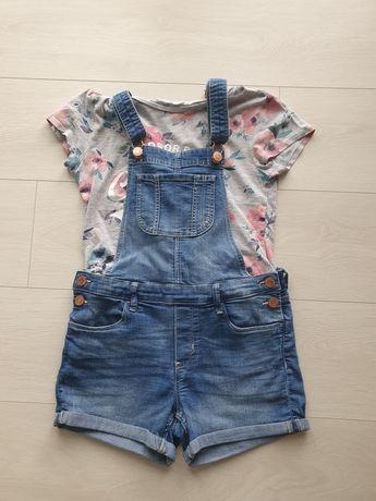 Ogrodniczki (H&M) + koszulka (H&M)