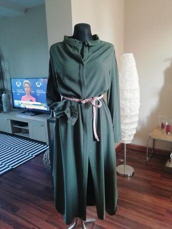 Sukienka midi model koszuli 42