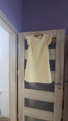 Cytrynowa sukienka fason A