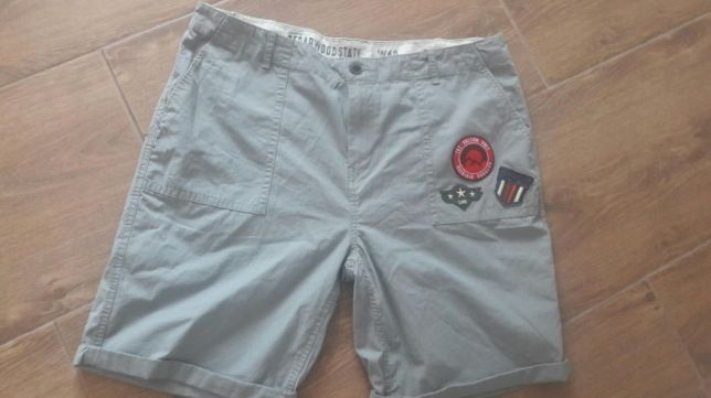 Spodnie szorty naszywki krotkie spodenki khaki xl xxl 40