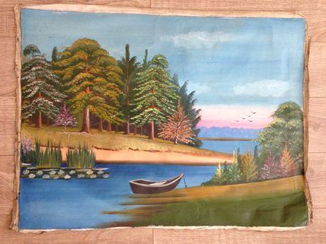 Картина маслом на холсте пейзаж
