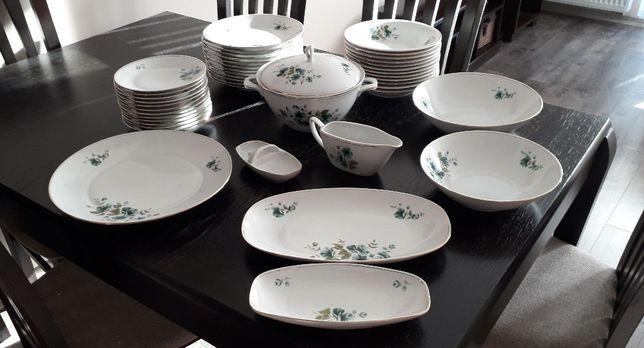 Serwis obiadowy 12 osób porcelana Chodzież lata 60 + mlecznik Tułowice