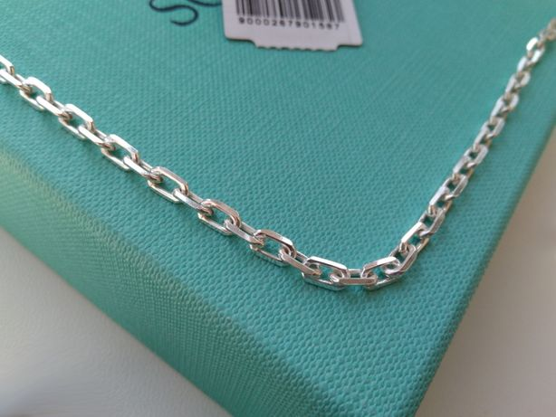 Серебряная цепочка 55 60 см якорное плетение серебро 925
