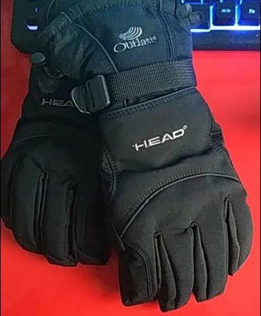 Rękawiczki zimowe narciarskie HEAD kieszonką skipass M L pięciopalcowe