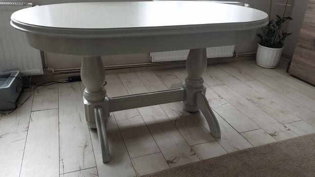 stół drewniany owalny duży rozkładany 90x150