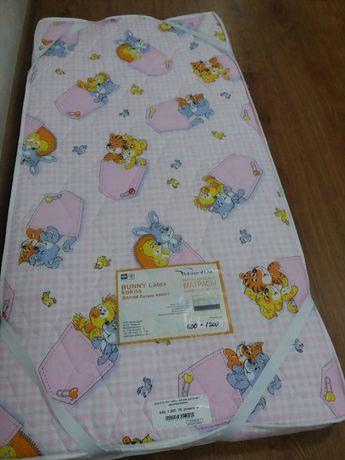 Дитячий матрас «Bunny Latex Kokos» 120*60 з наматрасником MatroLuxe
