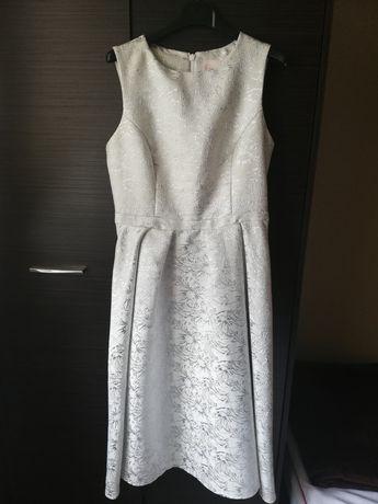 Mohito sukienka biało srebrna rozmiar 38