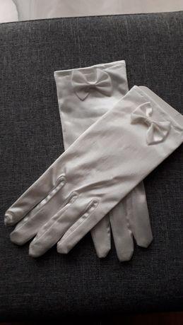 Rękawiczki białe S, ślub/komunia