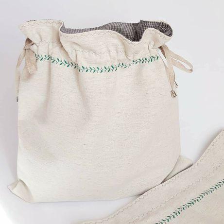 Текстильні лляні еко мішечки мішки для трав грибів чаю мешочки