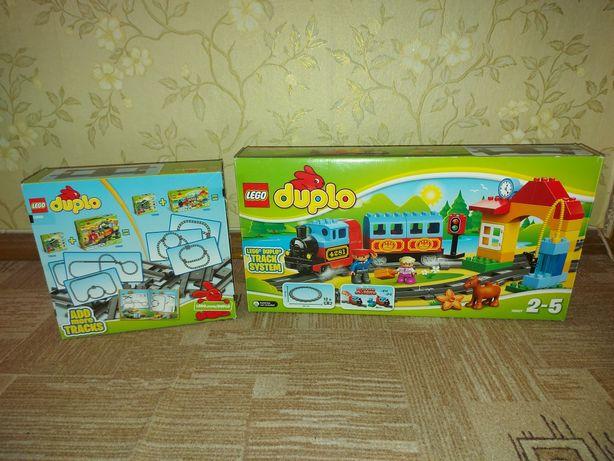 Продам набор лего дупло железная дорога поезд оригинал10507 10506 lego
