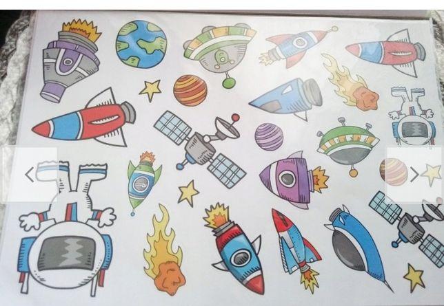 Naklejki różne wzory piłkarskie samochody kosmos