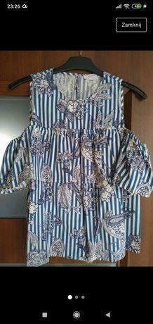 Piękna letnia bluzka Reserved nowa odkryte ramiona xs 34