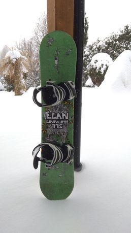 Sprzedam deskę snowboardową elan 115 cm z wiązaniami.