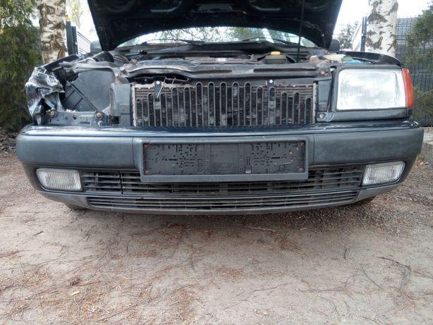 Audi 100 C4 - Zderzak przód przedni kpl. LZ5U + halogeny