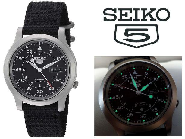 механіка Seiko SNK809 калібр 7S26C скло Hardlex годинник / часы