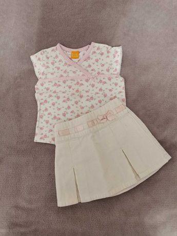 Komplet, spódniczka i bluzeczka 9-12 m-cy
