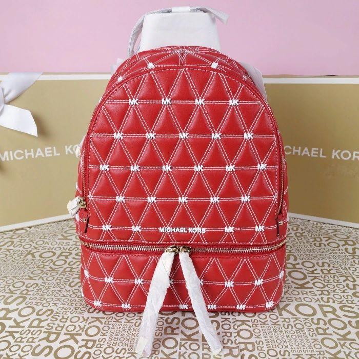 Кожаный рюкзак Michael Kors bright red медиум оригинал Майкл Корс Киев - изображение 1