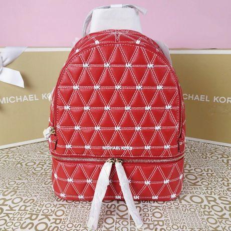 Кожаный рюкзак Michael Kors bright red медиум оригинал Майкл Корс