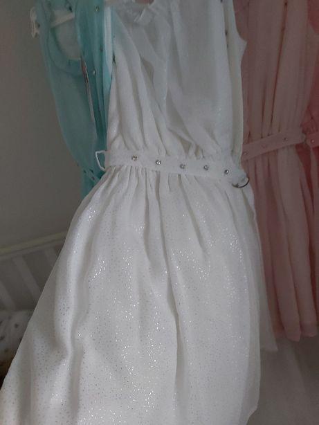 Новое! Красивое белое платье на девочку 122-128, 146см