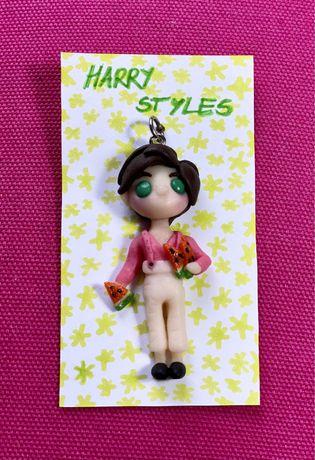 Zawieszka ozdoba wisiorek Harry Styles - handmade z modeliny