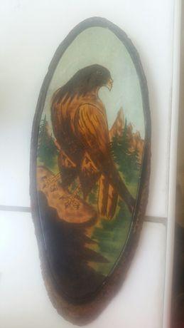 Obrazek na drewnie orzeł