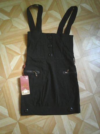 Чёрный стильный сарафан