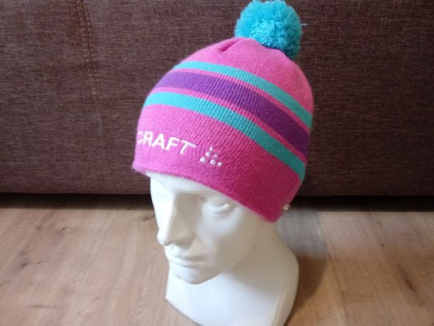 Craft damska czapka zimowa z pomponem zima narty