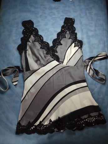Шовкова блуза від oasis з бісерною вишивкою