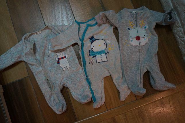 Zestaw dziecięcych piżamek piżam 56 pajacyki pajacyk kombinezon