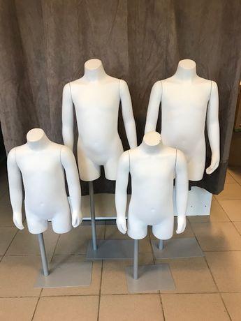 Manekiny dziecięce stojące białe 8 szt po likwidacji sklepu
