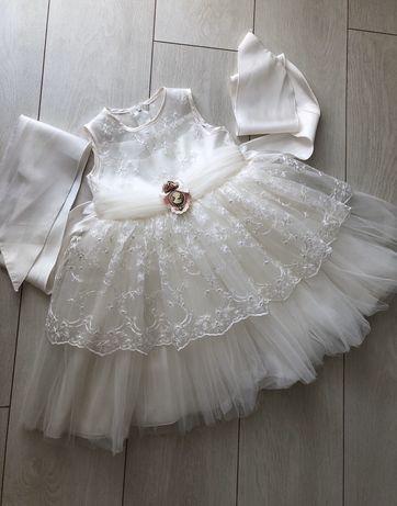 Нарядное платье на день рождение 2-3года