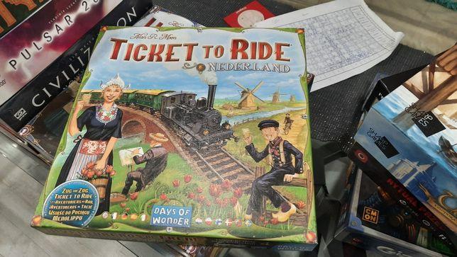 Gra Planszowa Wsiąść do pociągu Holandia Ticket to ride nederland