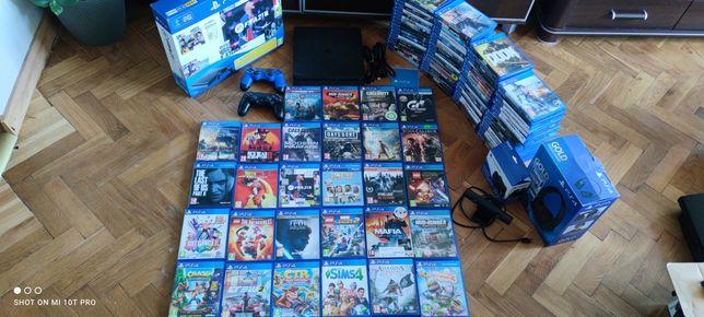 PS4 Slim Pady Dużo Gier Playstation Kamera Zamiana Xbox 360 one x PS3